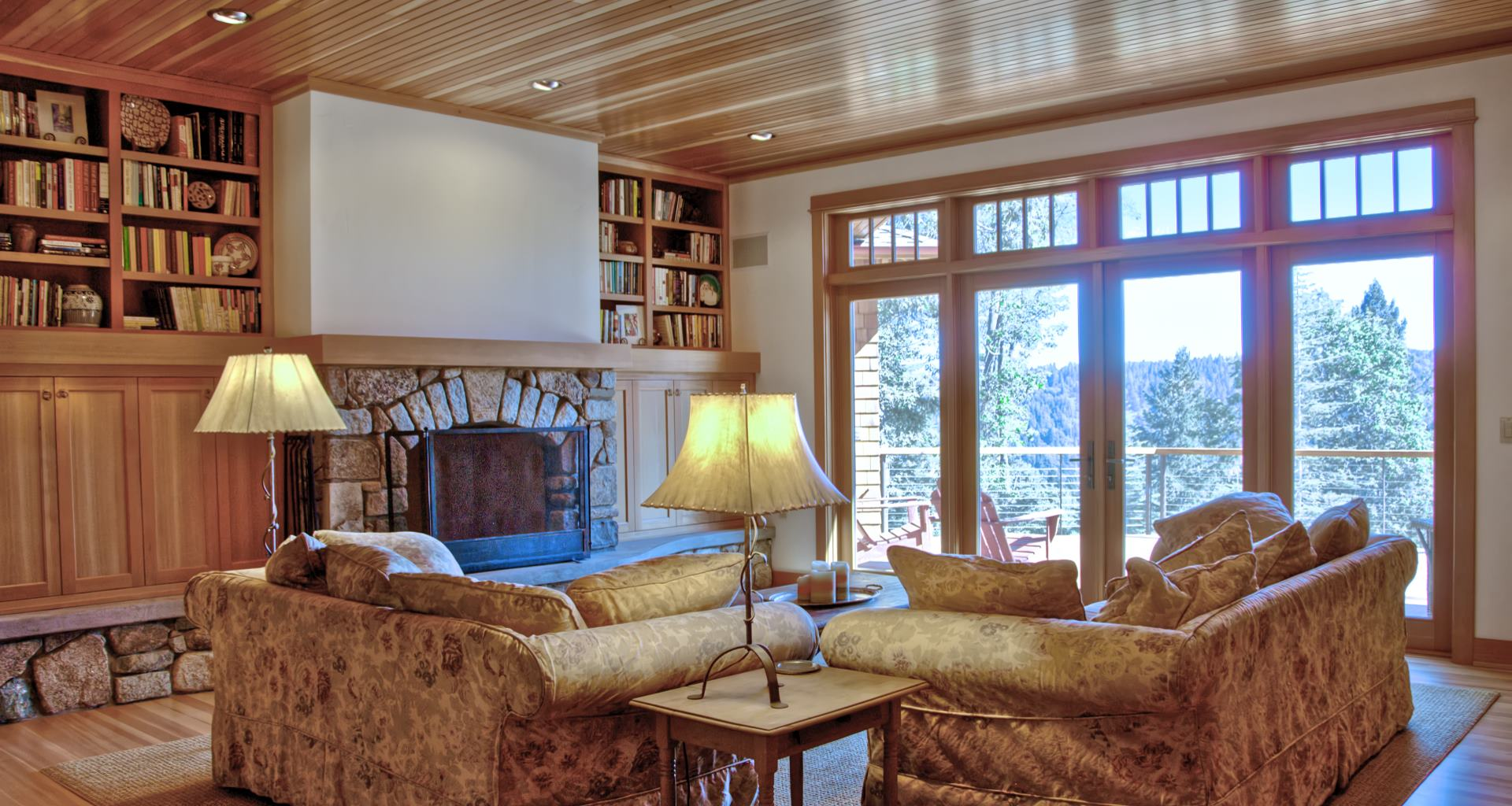 Sierra Pines living room interior